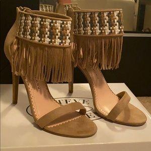 Brand new fringe heels
